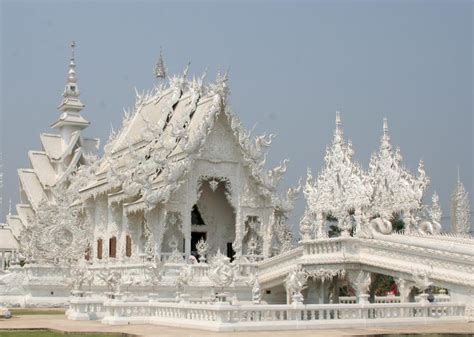 Wat Rong Khun, or the White Temple, in Chiang Rai, Thailand