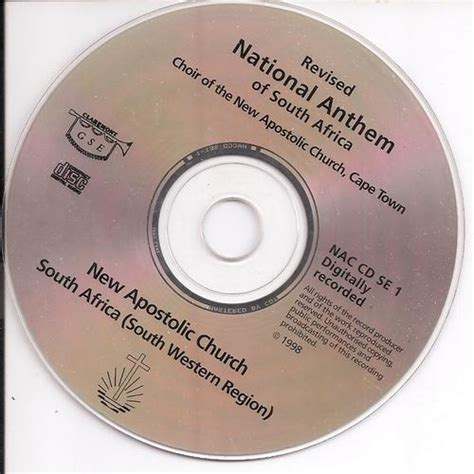 Other Music CDs - NATIONAL ANTHEM OF SOUTH AFRICA: NEW