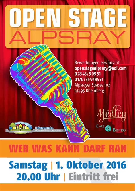 Open Stage in Rheinberg Alpsray