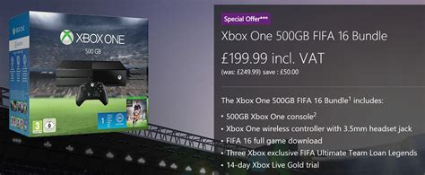Microsoft Store UK selling 500 GB Xbox One for only £199