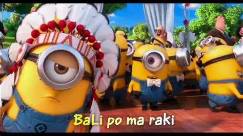 Minions Song ~ YMCA with Lyrics & full video clips - YouTube