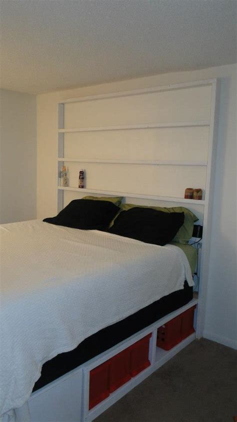 Ana White | King Storage Bed with bookcase headboard - DIY