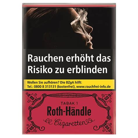 Roth-Händle Zigaretten ohne Filter King Size 10x20 | TABAK